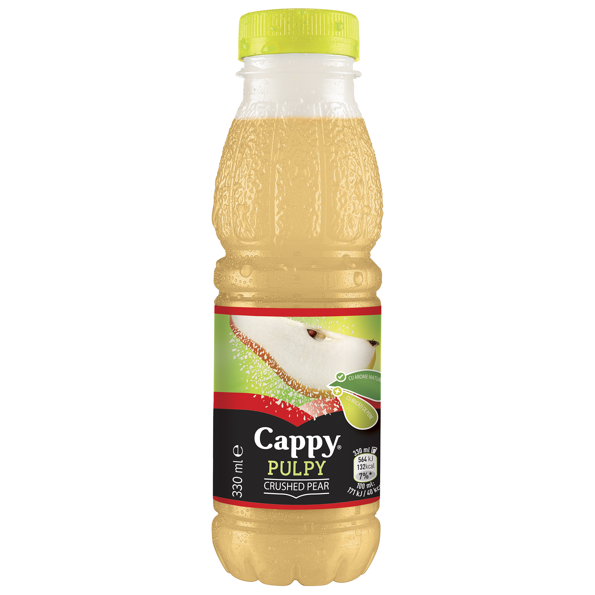 CAPPY PULPY Pear 330ml PET mai18