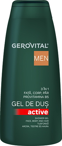 Gerovital Men Gel de dus Active 400