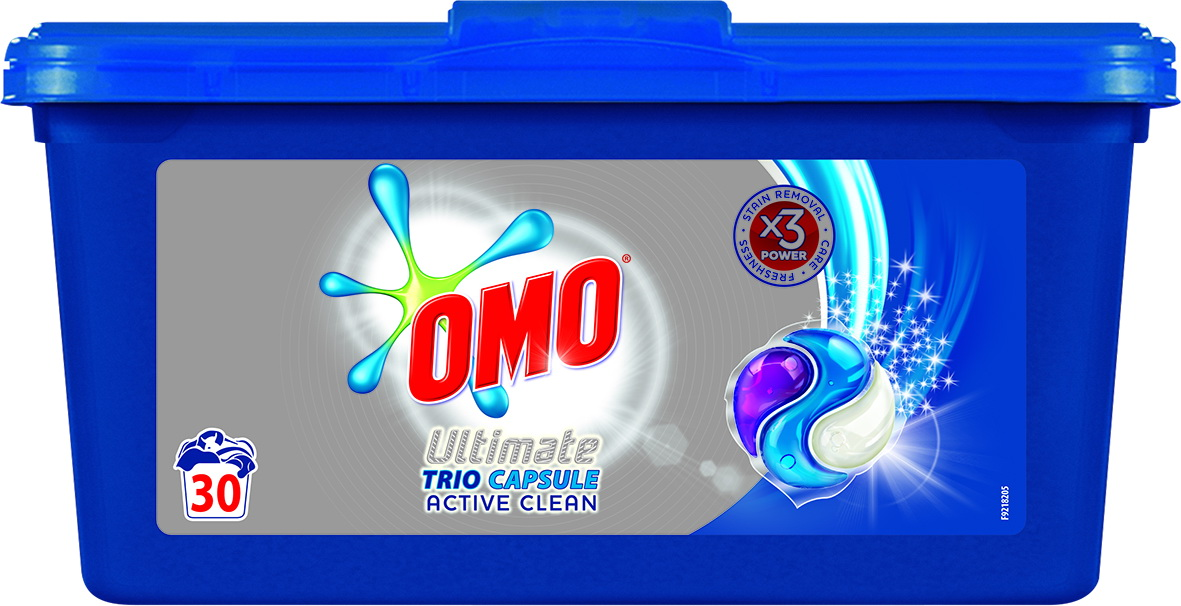 OMO Trio Capsule Active Clean 30 pcs