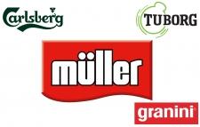 Central Bottlings Company aduce sub aceeaşi umbrelă lactatele Muller, alături de sucurile Granini şi de brandurile de bere Tuborg şi Carlsberg